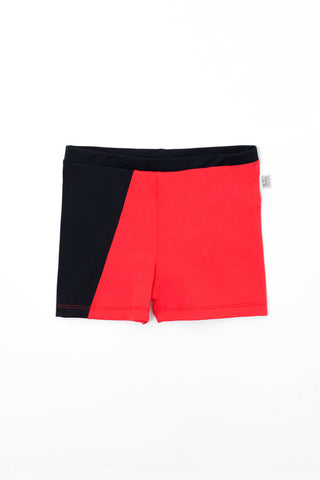 Motoreta Swimsuit Red & Black Boy's