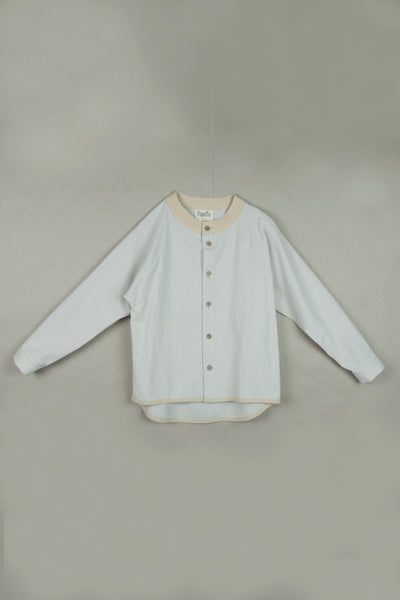 Popelin Off-White Raglan Sleeved Shirt