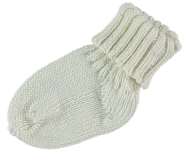 Pequeno Tocon Natural Knit Socks