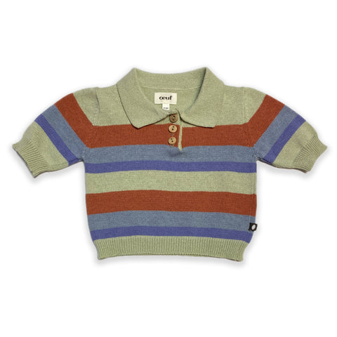 Oeuf Stripe Knit Polo