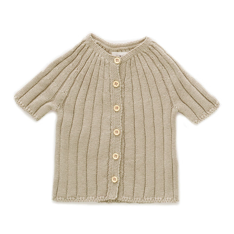 Oeuf Eggshell Everyday Cardigan & Shorts Set
