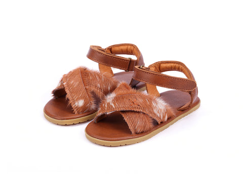 Donsje Amsterdam Wild Brown Cow Hair Otis Exclusive Sandals