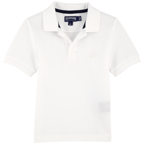 Vilebrequin White Solid Pique Polo Shirt