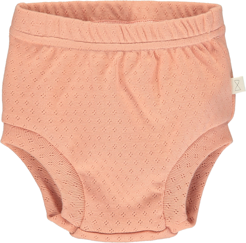 Mini Sibling Peach Patterned Bloomer Short