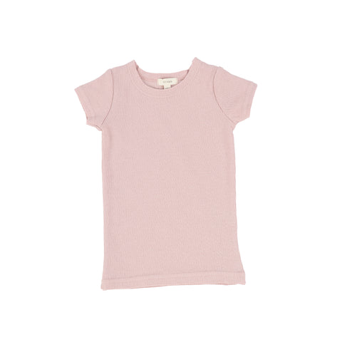 Lil Legs Blush Rib Short Sleeve T-Shirt
