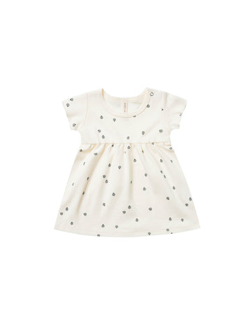 Quincy Mae Ivory Short Sleeve Baby Dress