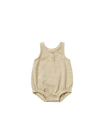 Quincy Mae Gold Stripe Bubble Romper