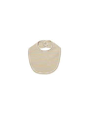 Quincy Mae Gold Stripe Snap Bib