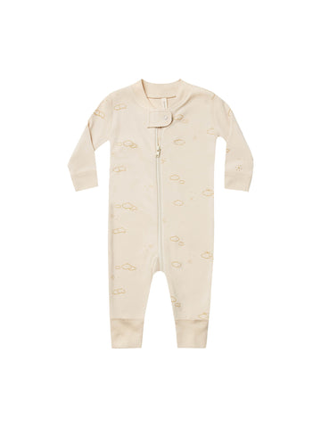 Quincy Mae Natural Zip Long sleeve Sleeper