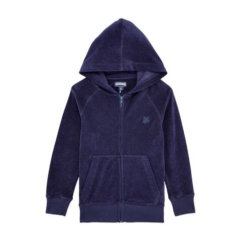 Vilebrequin Boys Terry Cloth Hoodie Solid