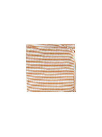 Quincy Mae Walnut Stripe Ribbed Baby Blanket