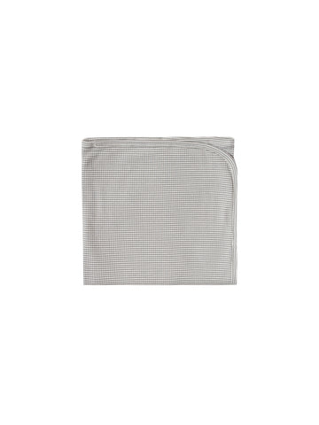 Quincy Mae Eucalyptus Stripe Ribbed Baby Blanket
