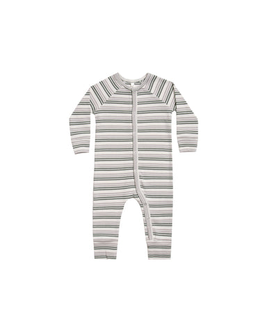 Rylee & Cru Forest & Warm Grey Striped Pajama Longjohn