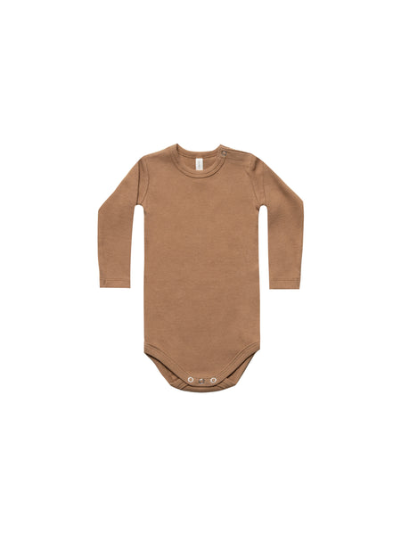 Quincy Mae Copper Ribbed Onesie Legging Set