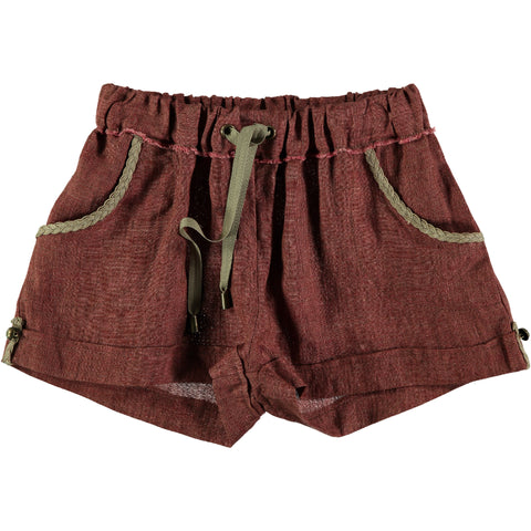 Belle Chiara Russet Distressed Linen Mahler Short