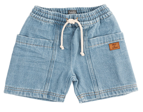 Tocoto Vintage Denim Pocket Shorts