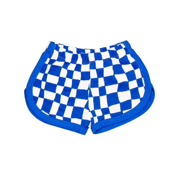 Noe & Zoe Blue Checkered Baby Shortie