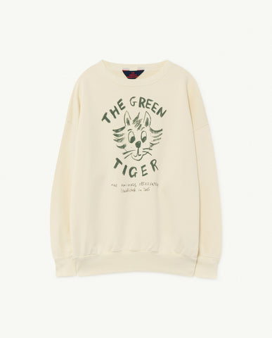 TAO Bear White Tiger Kids Sweatshirt