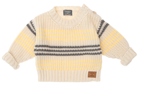 Tocoto Vintage Yellow Stripes Knit Jumper