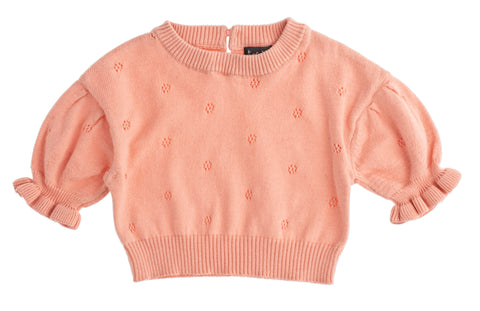 Tocoto Vintage Pink Pointelle Knit Top & Legging