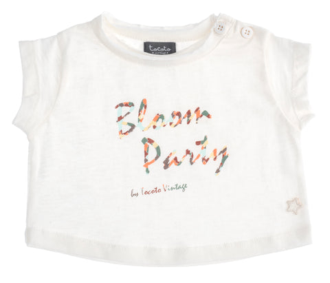 Tocoto Vintage Bloom Party Tee & Bloomer Set