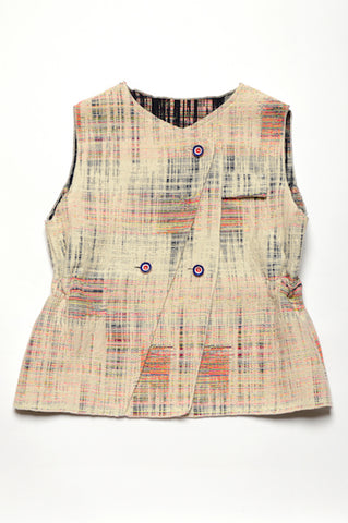 Leoca Rainbow Sleeveless Vest Jacket