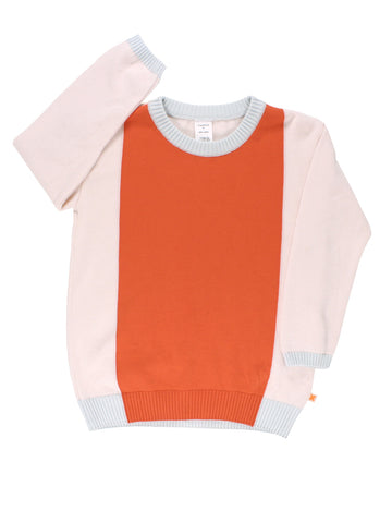 Tinycottons Pink Color Block Sweater Knit