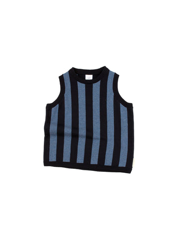 Tinycottons Navy Stripes Knit Vest