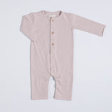 Nixnut Old Pink Button Onesie