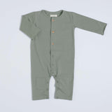 Nixnut Wild Green Button Onesie