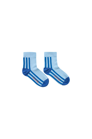 Tinycottons Ultramarine Stripes Quarter Socks
