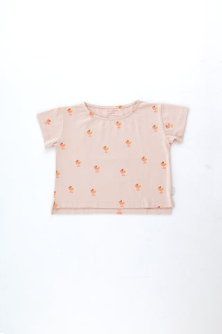 Tinycottons Dusty Pink Ice Cream Cup Crop Tee