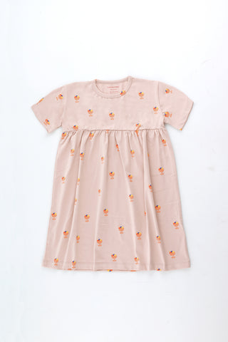 Tinycottons Dusty Pink Ice Cream Cup Dress