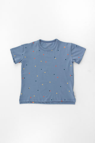 Tinycottons Grey Blue Ice Cream Dots Tee