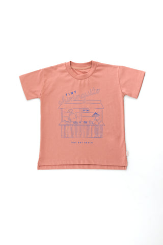 Tinycottons Mauve Tiny Chiringuito Graphic Tee