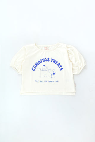 Tinycottons Off White Gambitas Treats Blouse