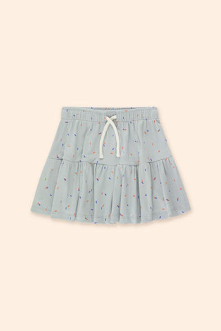 Tinycottons Pale Grey Sticks Short Skirt