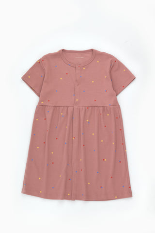 Tinycottons Mauve Ice Cream Dots Dress