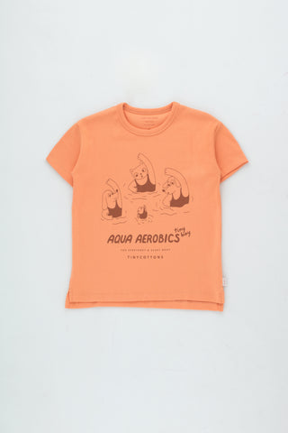 Tinycottons Light Papaya Aqua Aerobics Tee