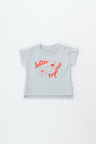 Tinycottons Pale Grey Better Together Baby Tee