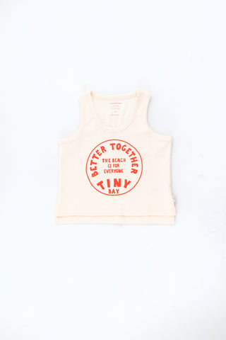 Tinycottons Light Cream Better Together Tank Top
