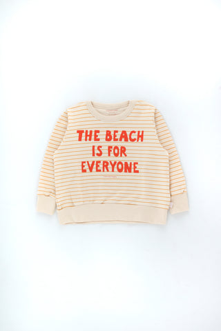 Tinycottons Light Cream Manifesto Stripes Sweatshirt