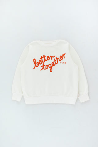 Tinycottons Off White Better Together Sweatshirt