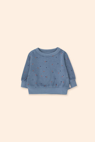 Tinycottons Grey Blue Baby Sticks Sweatshirt