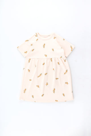 Tinycottons Light Cream Twigs Dress