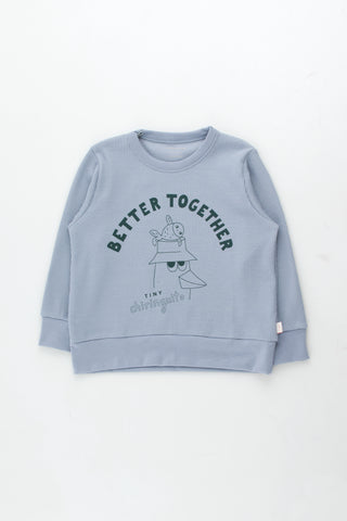 Tinycottons Summer Grey Friends Together Sweatshirt