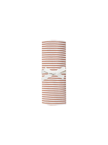 Quincy Mae Rust Stripe Swaddle