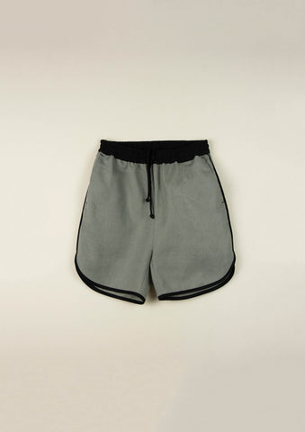 Popelin Green Contrast Shorts