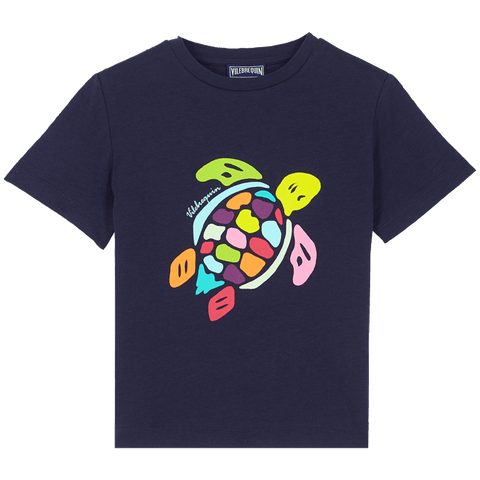 Vilebrequin Kids Cotton T-Shirt Tortues Multicolor