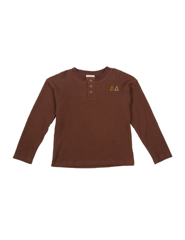 The Campamento Brown Waffle Henley